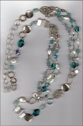 Aquamarine with Crystals & Pearls